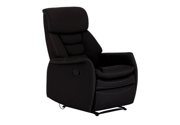 sessel camo fernsehsessel funktionssessel in schwarz neu ebay. Black Bedroom Furniture Sets. Home Design Ideas