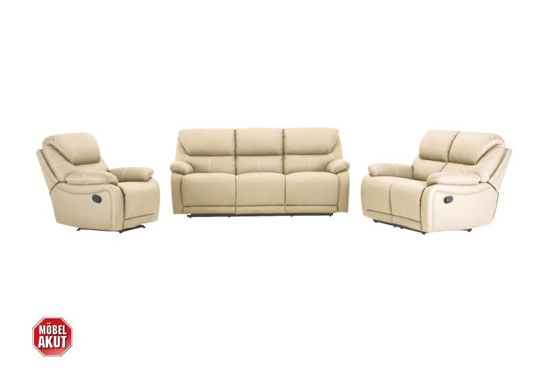 sofa garnitur berano sofa polsterm bel in beige wei mit relaxfunktion neu ebay. Black Bedroom Furniture Sets. Home Design Ideas