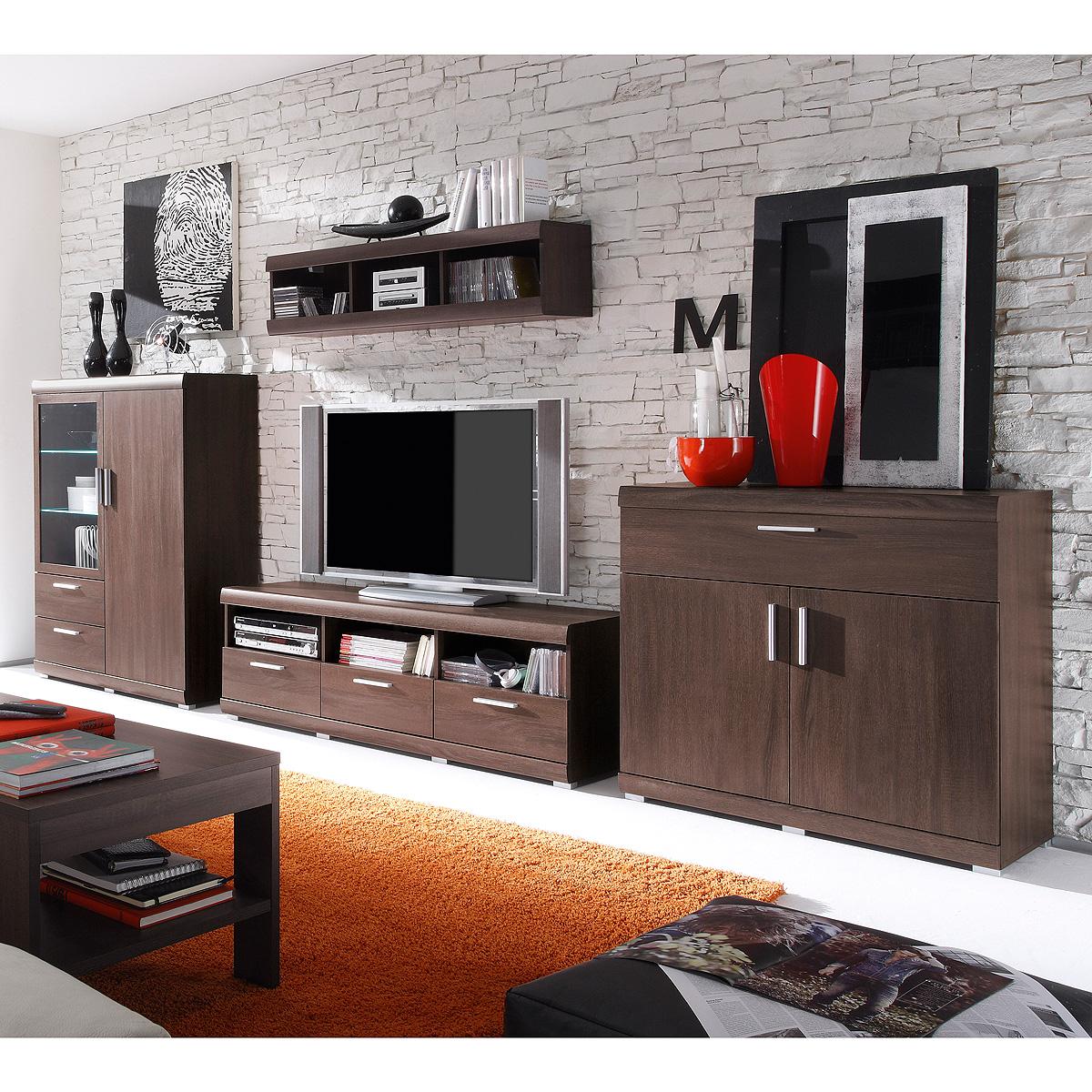 Verzauberkunst Anbauwand Wohnzimmer Ideen Von Das Bild Wird Geladen Wohnwand-mestre-anbauwand-wohnzimmer -in-sonoma-eiche-dunkel-