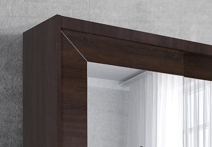 schwebet renschrank alfa sonoma eiche dunkel 200 cm. Black Bedroom Furniture Sets. Home Design Ideas