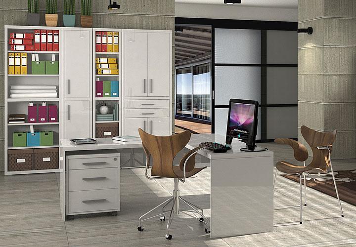 schreibtisch skoro wei hochglanz lackiert. Black Bedroom Furniture Sets. Home Design Ideas