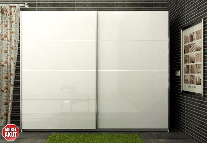 schwebet renschrank unico kleiderschrank schrank in wei hochglanz 240 cm ebay. Black Bedroom Furniture Sets. Home Design Ideas
