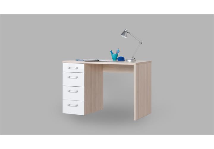 Schreibtisch calisma wei hochglanz und coimbra esche for Jugendzimmer calisma