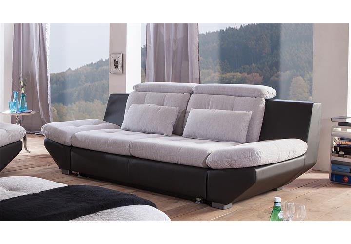 Sofa 3 sitzer eternity wei hellgrau schwarz for Ecksofa eternity