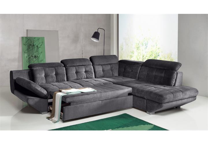 wohnlandschaft eternity sofa ecksofa in anthrazit mit bettfunktion ebay. Black Bedroom Furniture Sets. Home Design Ideas