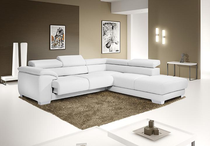 wohnlandschaft ventura ecksofa sofa in wei mit funktion. Black Bedroom Furniture Sets. Home Design Ideas