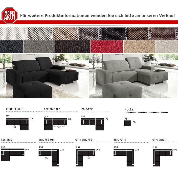 ecksofa francisco sofa wohnlandschaft schwarz elektrische relaxfunktion ebay. Black Bedroom Furniture Sets. Home Design Ideas