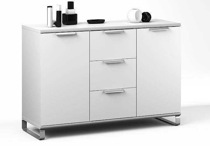 sideboard twiks kommode schrank in wei kufen ebay. Black Bedroom Furniture Sets. Home Design Ideas