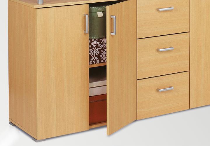 sideboard swift kommode anrichte in buche natur dekor. Black Bedroom Furniture Sets. Home Design Ideas