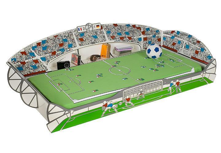 kinderbett jugendbett foot im fu ball stadion look. Black Bedroom Furniture Sets. Home Design Ideas