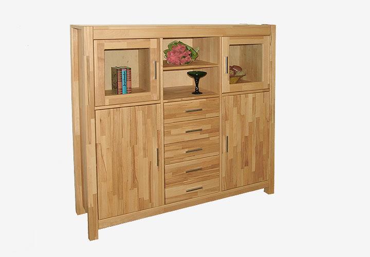 nio highboard ii ge lt kernbuche massiv. Black Bedroom Furniture Sets. Home Design Ideas