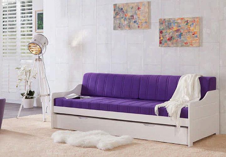 marie bett 90x200 kiefer massiv wei lack. Black Bedroom Furniture Sets. Home Design Ideas