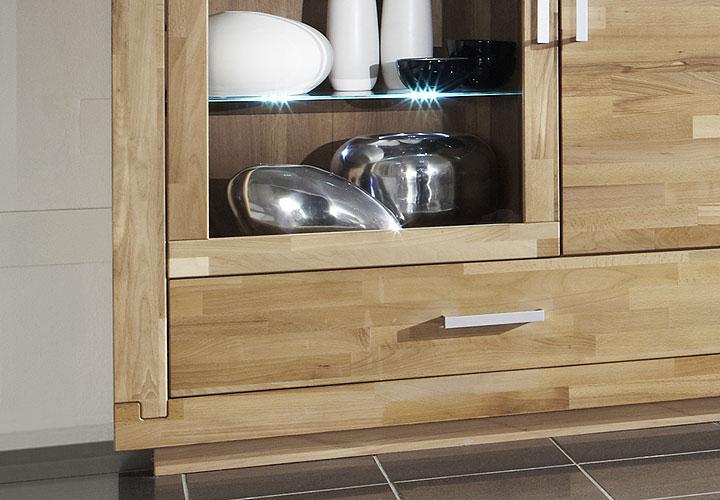 agumon vitrine kernbuche teilmassiv ge lt. Black Bedroom Furniture Sets. Home Design Ideas