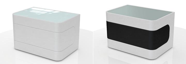 nachtkonsole weis hochglanz mit glasplatte beste. Black Bedroom Furniture Sets. Home Design Ideas