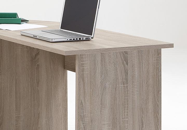 Schreibtisch kombi till sonoma eiche s gerau for Schreibtisch abgerundet
