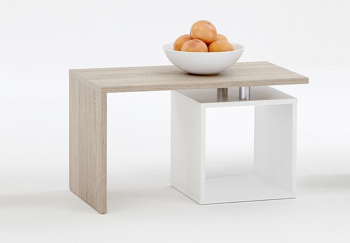Couchtisch wei eiche s gerau neuesten for Moderner design couchtisch pull sonoma eiche hochglanz weiss 120 cm
