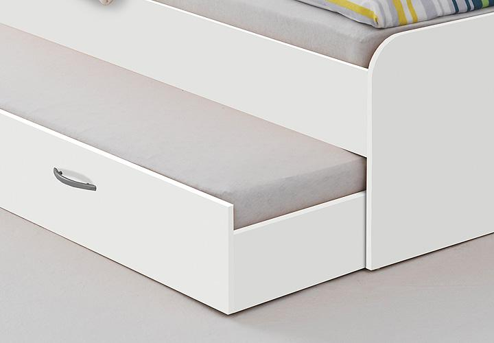 bett pedro 4 90x200 cm wei ausziehbare g steliege. Black Bedroom Furniture Sets. Home Design Ideas