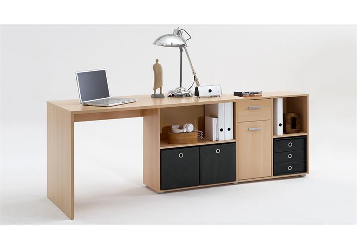 Schreibtisch lex winkelkombination tisch b rotisch buche for Schreibtisch winkelkombination buche