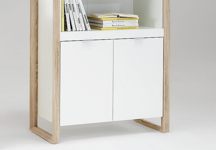 regalschrank frame regal schrank b roschrank in wei buche. Black Bedroom Furniture Sets. Home Design Ideas