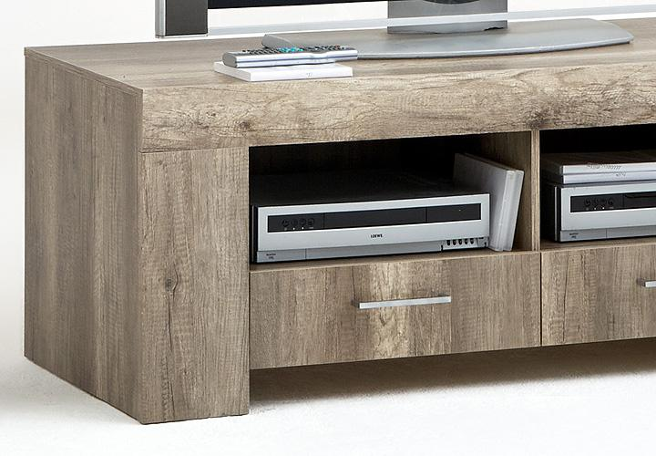 tv board mona lisa lowboard tv schrank in wildeiche dekor. Black Bedroom Furniture Sets. Home Design Ideas