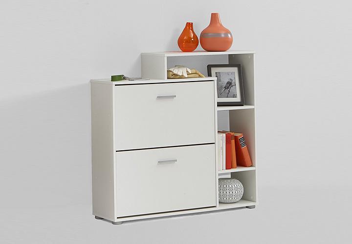 schuhschrank penny schuhkommode flurschrank in wei dekor. Black Bedroom Furniture Sets. Home Design Ideas