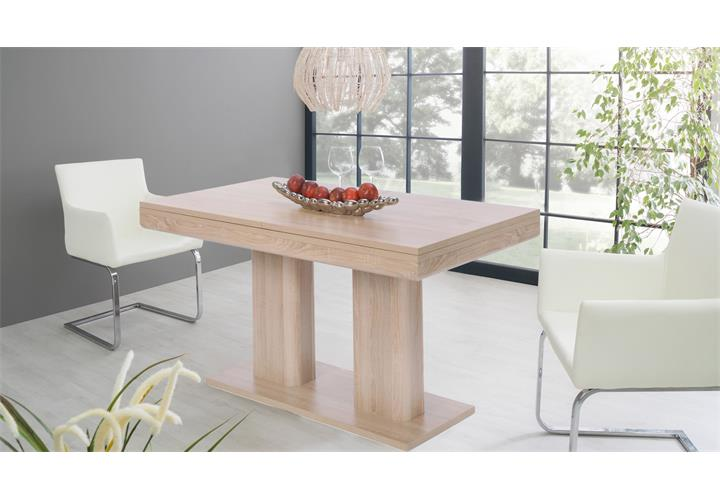 esstisch heidelberg sonoma eiche ausziehbar 140 220x90 cm. Black Bedroom Furniture Sets. Home Design Ideas
