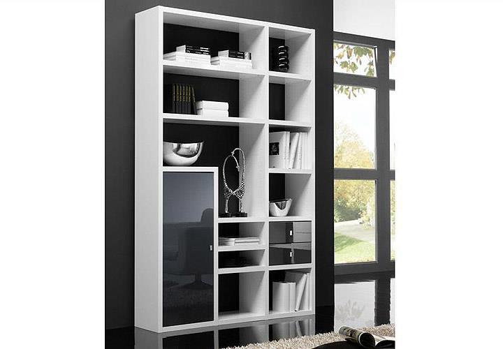 regal toro 100 wei und schwarz hochglanz. Black Bedroom Furniture Sets. Home Design Ideas