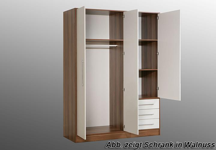 kleiderschrank jupiter sonoma eiche s gerau wei 144 cm. Black Bedroom Furniture Sets. Home Design Ideas