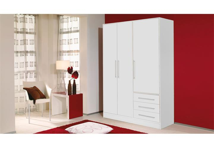 kleiderschrank jupiter in wei 144 6 cm breit. Black Bedroom Furniture Sets. Home Design Ideas