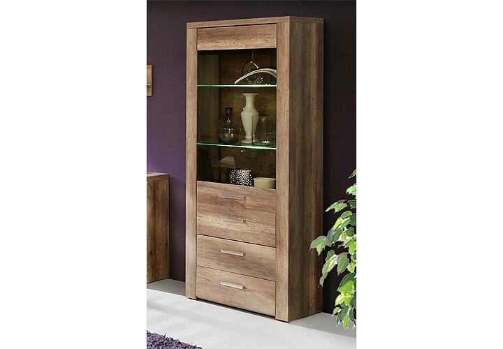vitrine portland eiche antik. Black Bedroom Furniture Sets. Home Design Ideas