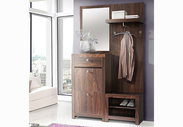 garderobe indigo schuhschrank in eiche durance kolonialstil. Black Bedroom Furniture Sets. Home Design Ideas