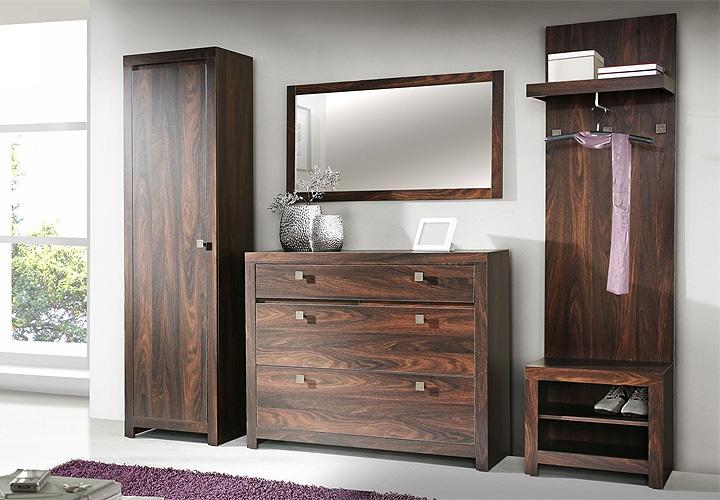 garderobenset indigo schuhschrank spiegel eiche durance. Black Bedroom Furniture Sets. Home Design Ideas