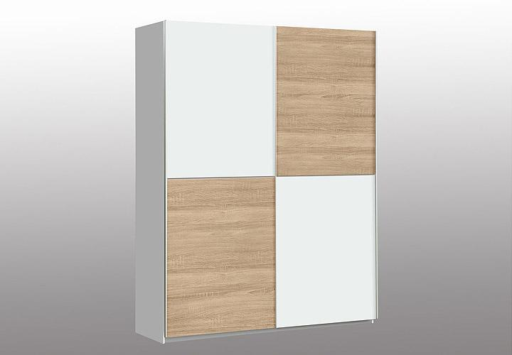schwebet renschrank winner kleiderschrank wei sonoma eiche 120 cm ebay. Black Bedroom Furniture Sets. Home Design Ideas