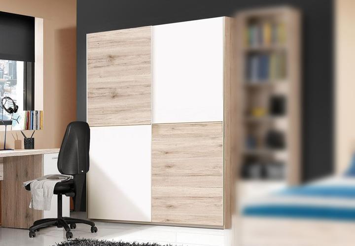 schwebet renschrank beach schrank sandeiche wei 150 cm. Black Bedroom Furniture Sets. Home Design Ideas