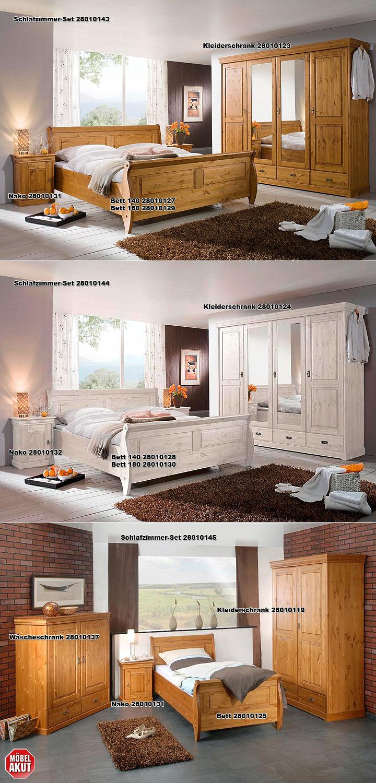 roland kleiderschrank b 255 kiefer massiv wei. Black Bedroom Furniture Sets. Home Design Ideas