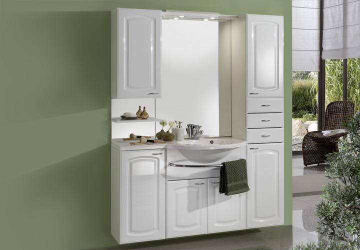 komplettbad lola badezimmer wei mit mineralgussbecken spiegel inkl beleuchtung ebay. Black Bedroom Furniture Sets. Home Design Ideas