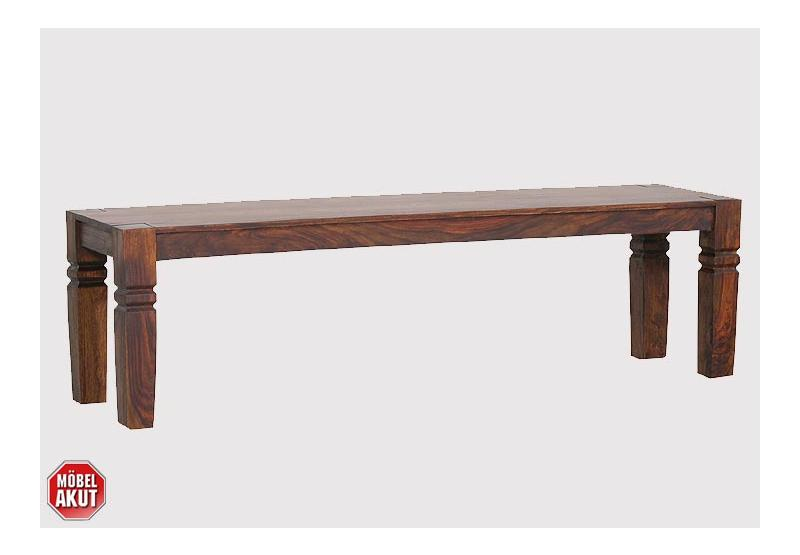 bank maya sitzbank sheesham massiv neu b 160 ebay. Black Bedroom Furniture Sets. Home Design Ideas