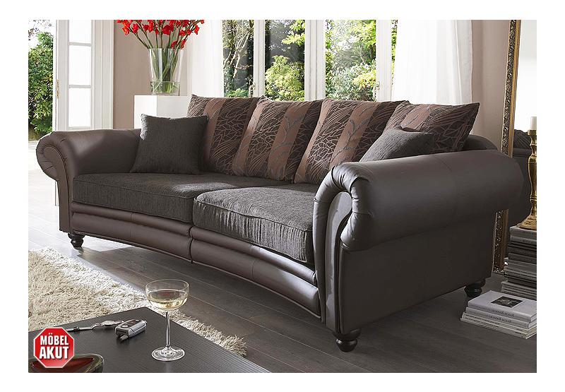 megasofa laos sofa in braun mit f en in kolonial ebay. Black Bedroom Furniture Sets. Home Design Ideas