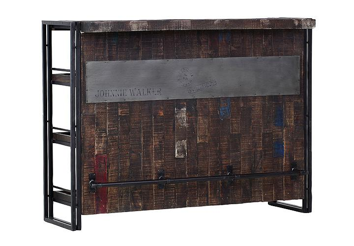 Poco Regal Grau ~ Titan Wohnwand  BarRegal TITAN Metall antikfarben lackiert und Mango
