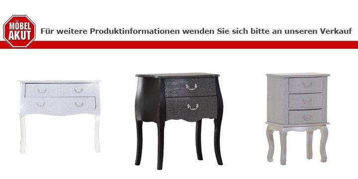 kommode glamour beistellkommode in schwarz glitzer massiv. Black Bedroom Furniture Sets. Home Design Ideas