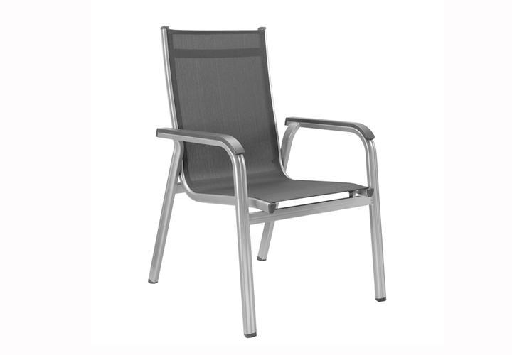 stapelsessel 4er set basic plus kettler gartenm bel aluminium und outdoor gewebe ebay. Black Bedroom Furniture Sets. Home Design Ideas