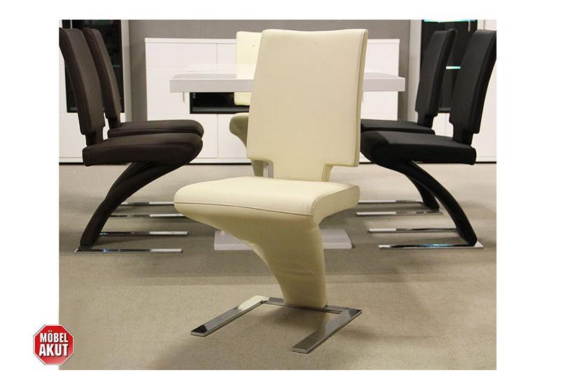 schwingstuhl daily stuhl in creme echtes leder neu ebay. Black Bedroom Furniture Sets. Home Design Ideas