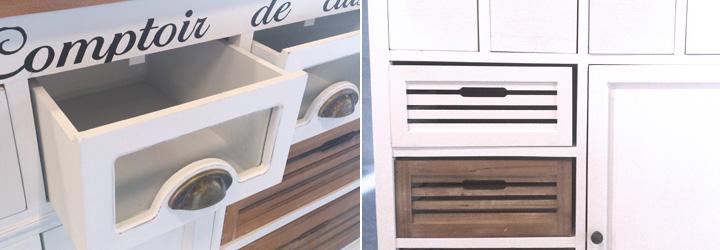 servierwagen paris paulownia holz weiss vintage. Black Bedroom Furniture Sets. Home Design Ideas