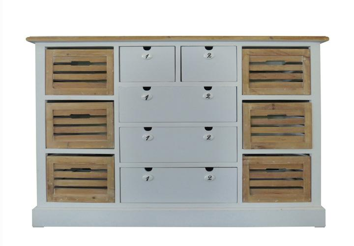 sideboard 6 paris paulownia holz weiss vintage. Black Bedroom Furniture Sets. Home Design Ideas