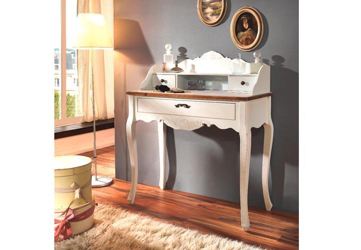 schminktisch paris paulownia holz weiss vintage. Black Bedroom Furniture Sets. Home Design Ideas