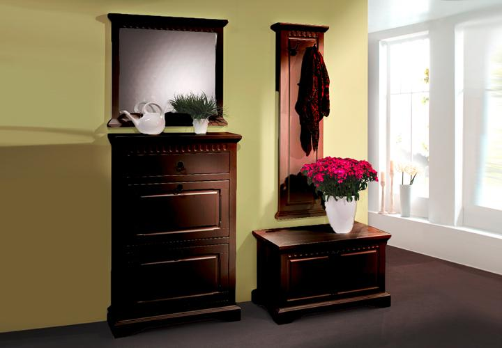 garderobe pisa flurm bel 4 teilig schuhschrank truhe in pinie massiv kolonial. Black Bedroom Furniture Sets. Home Design Ideas