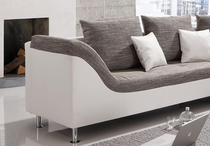 ecksofa pula wei grau ottomane rechts. Black Bedroom Furniture Sets. Home Design Ideas