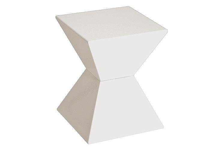 Beistelltisch edge tisch in wei hochglanz lack 35x35 cm for Beistelltisch weiss lack