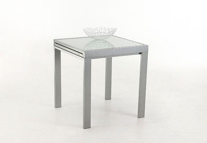 Esstisch darina tisch in wei glas lack ausziehbar 70 for Esstisch 70 x 120 ausziehbar