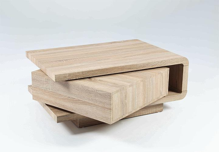 couchtisch remo beistelltisch tisch in sonoma eiche drehbar. Black Bedroom Furniture Sets. Home Design Ideas